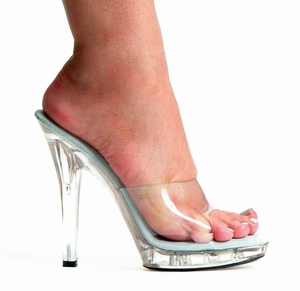 "5"" Clear High Heel Shoes * M-VANITY"