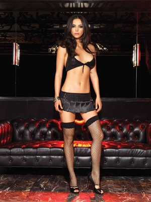 Halter Top and Satin Mini Skirt * 28023