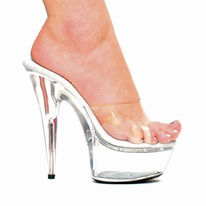 "6"" Clear Sexy Shoes * 609-VANITY"