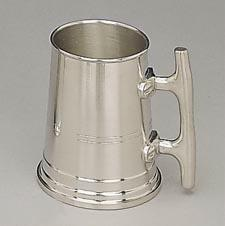 Woodbury Pewter Satin Finish Nautical Tankard w/ Cleat Handle