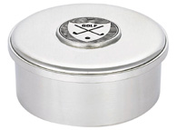 Woodbury Pewter Golf Round Box /lid / 3.5""