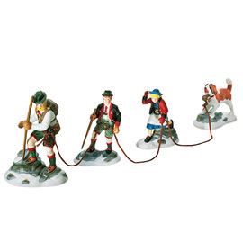 "Department 56 ""Dickens' Alpine Village Series"" - 'Climb Every Mountain'.  Set of 4. RETIRED."