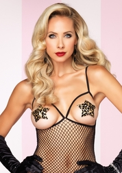 Flocked Leopard Star Pasties