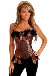 Sequin Burlesque Underwire Corset