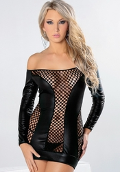 Fishnet Fetish Honeycomb Dress