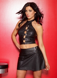 Leather School Girl Skirt