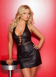 Risque Leather Skirt