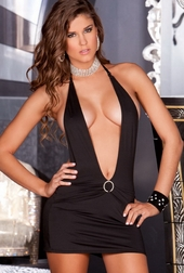 A Night In Vegas Halter Dress
