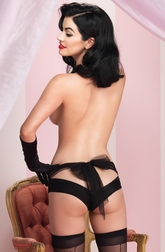 Spandex & Lace Open Back Panty