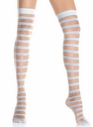 Sheer & Opaque Striped Stockings