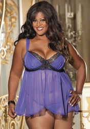 Plus Size Endless Possibilities Lace Babydoll