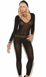 Sexy Opaque Long Sleeve Footless Bodystocking