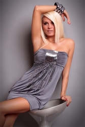 Sexual Fantasies Gray Mini Dress
