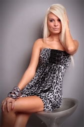 Sexual Fantasies Gray Leopard Mini Dress