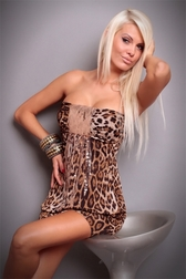 Sexual Fantasies Brown Leopard Mini Dress