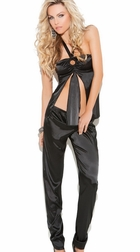 Charmeuse Halter Cami Top And Pants