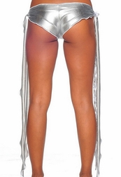 Foil Ribbon Tie Shorts