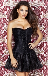 Let Me Love You Black Lace Corset Skirt Set