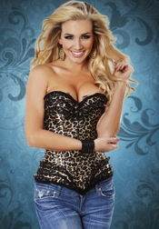 Wild Night Leopard Corset