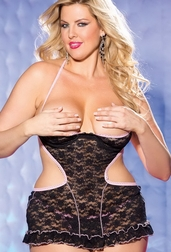 H.O.T. Plus Size Surprise Me Tonight Babydoll