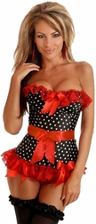 Rockabilly Polka Dot Corset