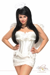 Plus Size 4 PC Burlesque Angel Costume