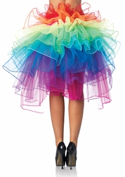 Rainbow Organza Bustle