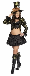 Plus Size 4 PC Tea Party Tease Costume