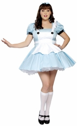Plus Size 3 PC Miss Alice Costume