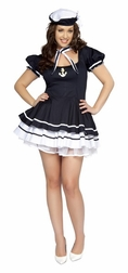 Plus Size 3 PC Sailor Sweetie Costume