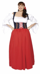 Plus Size 4 PC Swiss Miss Costume