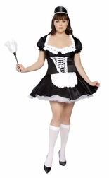 Plus Size 3 PC French Maid Costume