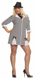 Plus Size Gangster Girl Costume