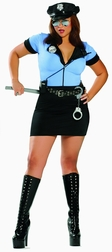 Plus Size 7 PC NY Cop Costume