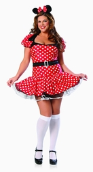Plus Size 3 PC Mighty Mouse Costume
