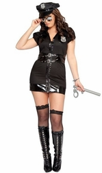 Plus Size 7 PC Dirty Cop Costume