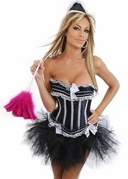Plus Size Sexy Frenchie 3 PC Maid Costume
