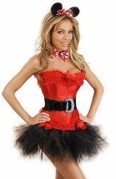 Plus Size 5 PC Miss Mouse Costume