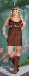 Plus Size Tribal Trouble Costume