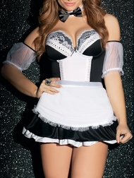 Plus Size Head Maid Costume