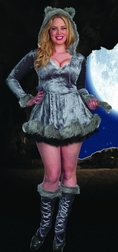 Plus Size Big Bad Sexy Wolf Costume