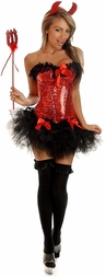 Plus size Pin-Up Devilish babe costume