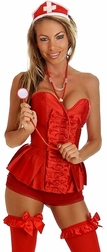 Plus size Sexy Red Nurse Costume