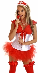 Plus size Sexy Pin-Up Nurse Costume