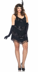 Plus Size 2 PC. Roaring 20's Honey Costume