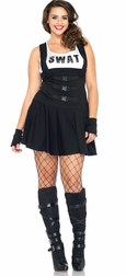 Plus Size 4 PC. Sultry SWAT Officer Costume