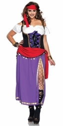Plus Size 4 PC. Traveling Gypsy Costume