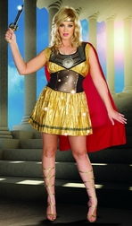 Plus Size Golden Gladiator Costume