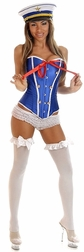 Plus Size Sexy 2 PC Pin-Up Sailor Costume