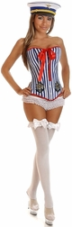 Plus Size Darling 2 PC Pin-Up Sailor Costume